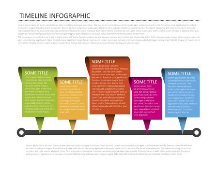 Modern horizontal timeline design template Vector