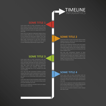 end month: Modern horizontal timeline design template