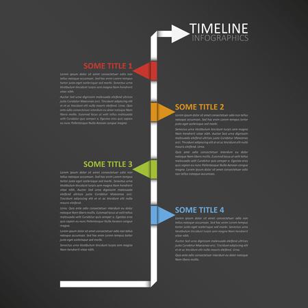 Modern horizontal timeline design template