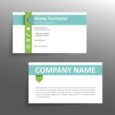 fondo para tarjetas: Plantilla de tarjeta de visita simple moderna. Vectores