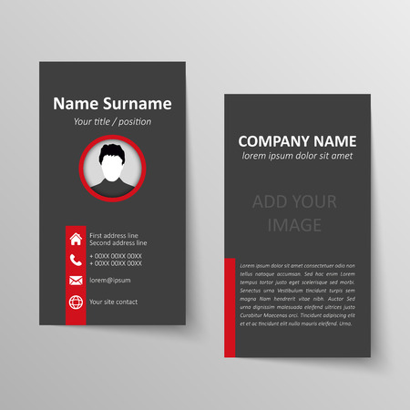 Modern simple business card vector template. Illustration