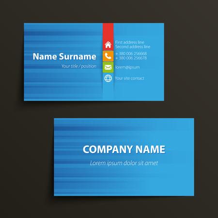 現代的なシンプルなビジネス カード テンプレートです。ベクトル形式です。  イラスト・ベクター素材