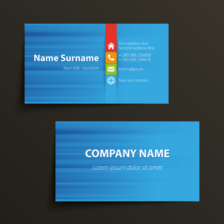background card: Modern simple business card template. Vector format.