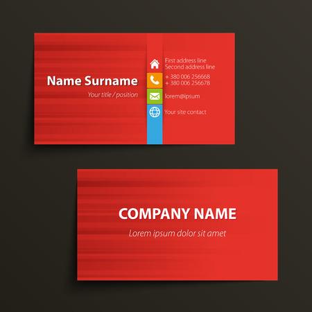 현대 간단한 비즈니스 카드 템플릿입니다. 벡터 형식입니다.