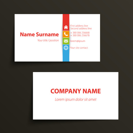 business card: Modern simple business card template. Vector format.