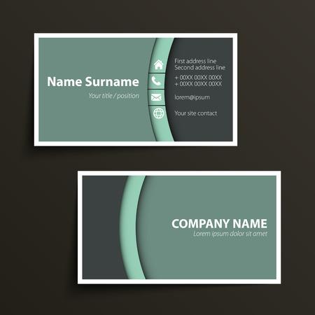 Moderne einfache Visitenkarte Vorlage. Vektor-Format. Standard-Bild - 31276687