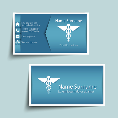 business people: Modern simple business card template