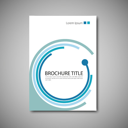color pages: Cover brochure template. Vector format.