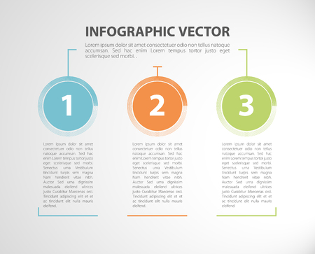 Modern business steps options. Vector graphic design template.