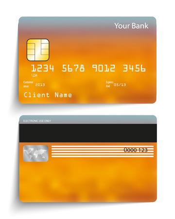 Realistic vector credit card. Vettoriali