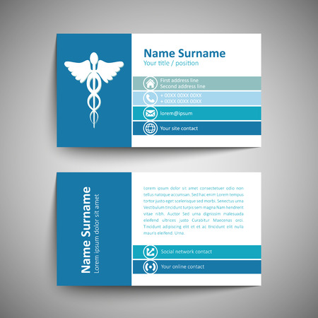 business office: Modern simple business card template. Vector format.