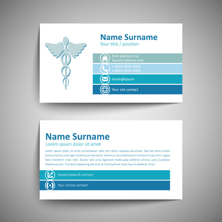 sign card: Modern simple business card template. Vector format.