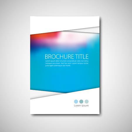blank book cover: Cover brochure template. Vector format.