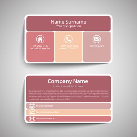 Modern simple business card template vector format royalty free modern simple business card template vector format stock vector 37716174 flashek Images