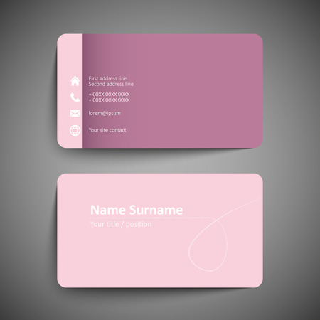 Pink business card set template or visiting card vector pink business card set template or visiting card vector illustration stock vector maxwellsz