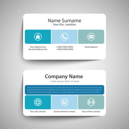 visit card: Modern simple business card template. Vector format.