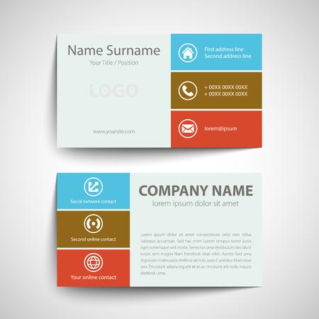 Simple Business Card Template | Modern Simple Business Card Template Vector Format Royalty Free