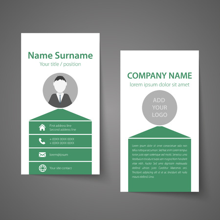 carte visite: Modern simple business card template.