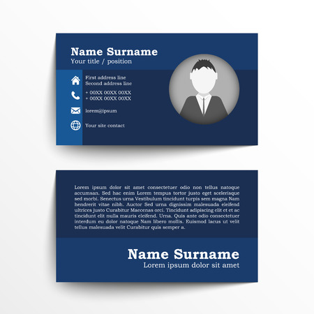 Modern simple business card set template or visiting card vector modern simple business card set template or visiting card vector illustration colourmoves