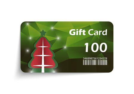 Modern christmas gift card template - vector format Illustration