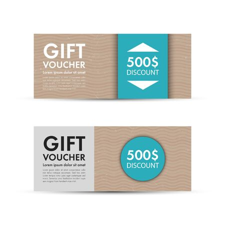 fake money: Voucher, Gift certificate, Coupon template. Vector illustration. Illustration