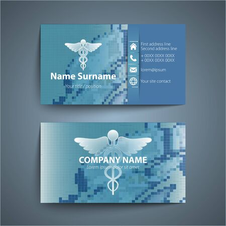 Moderne simple carte de visite prévue pour le médecin. Vector illustration. Banque d'images - 52398662