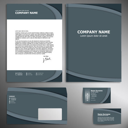 sample environment: Corporate identity kit or business kit for your business.