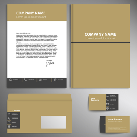 environmentalist: Corporate identity kit or business kit for your business.