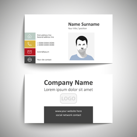 Modern simple business card set template or visiting card royalty modern simple business card set template or visiting card stock vector 58689219 colourmoves