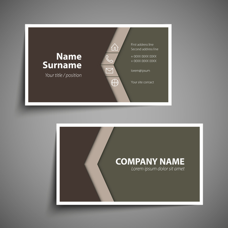 Modern simple business card template royalty free cliparts vectors modern simple business card template stock vector 89416779 cheaphphosting Image collections