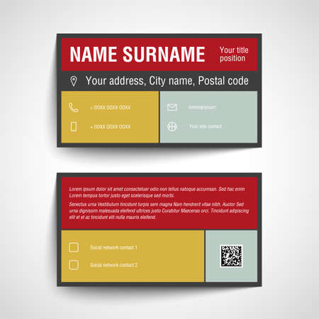 Modern Simple Business Card Template Design Royalty Free Cliparts