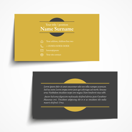 Modern simple business card set, template or visiting card. Vector illustration. Vettoriali