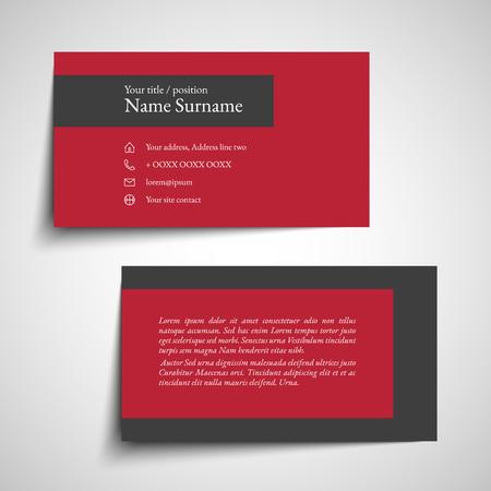 Set moderno semplice biglietto da visita, modello o biglietto da visita. Illustrazione vettoriale Archivio Fotografico - 99959920