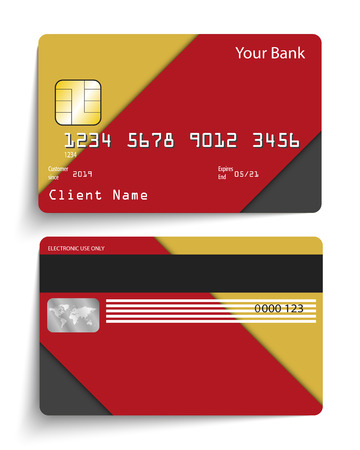 Modern abstract realistic vector credit card.