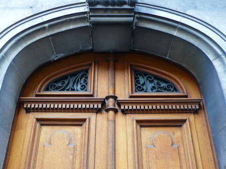 door with moulding in Paris, France Stock Photo - 41956680