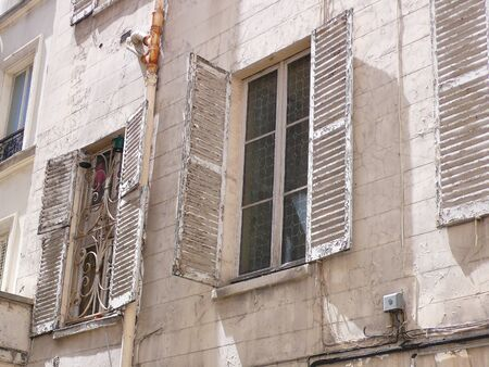 old windows, in Paris, France