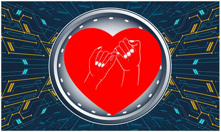 Love Promise on Abstract Digital Background