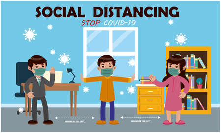 keep social distance from everyone to spread germs