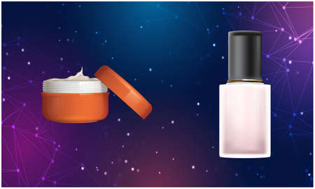 mock up illustration of cosmetic product on abstract background