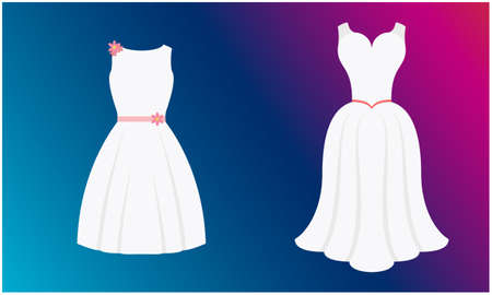 mock up illustration of female dress on abstract background