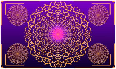 digital textile illustration design of gold art Vector Illustratie