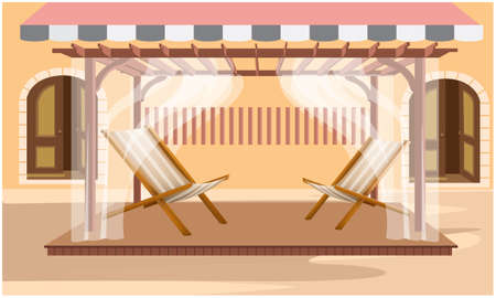 mock up illustration of two chairs in a meeting room