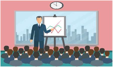 seminar is going on in office Stock Illustratie