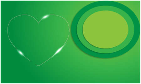 thin heart on abstract green backgrounds