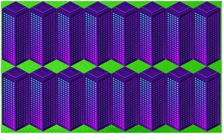 digital textile design of big blocks on abstract background