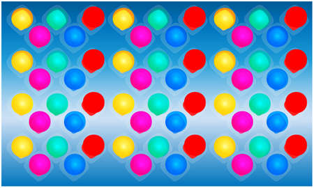digital textile design of colored circles and square on abstract background 向量圖像