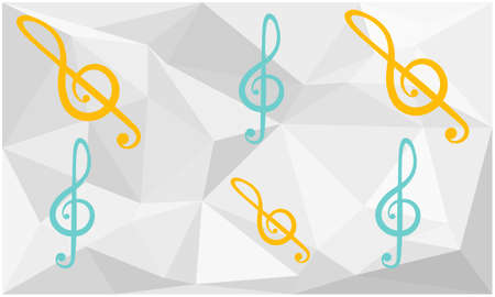 collection of music arts on abstract background