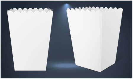 paper pop corn box on abstract surfaces