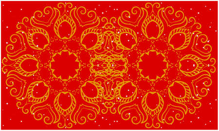 gold design art on abstract red backgrounds