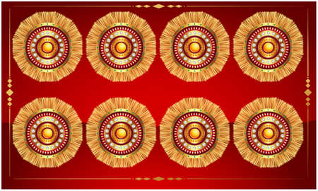 digital textile design of traditional art on abstract backgrounds Stock Photo